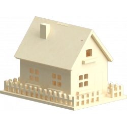 3mm House 3D Puzzle Template