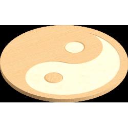 Ying Yang Coaster Template
